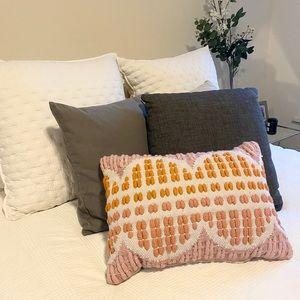 Anthropologie Woven Throw Pillow! Fun color POP!☀️